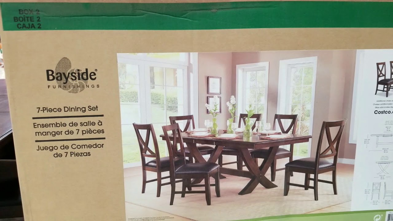 Costco! 7 Piece Dinning Set! 499!!! - YouTube