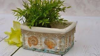 Decoupage tutorial -  how to decorate wicker basket