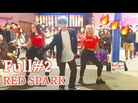 "[K-POP In Public]  Full#2 190419 РУССКИЕ ТАНЦУЮТ В КОРЕЕ ""RED SPARK"" Cover Dance Hongdae Busking"