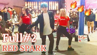 "[K-POP in Public]  Full#2 190419 РУССКИЕ ТАНЦУЮТ В КОРЕЕ ""RED SPARK"" cover dance Hongdae busking"