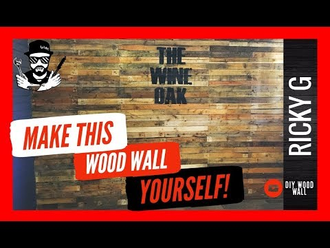 How to Make a Wooden Wall with Pallet Wood - DIY Accent Wall