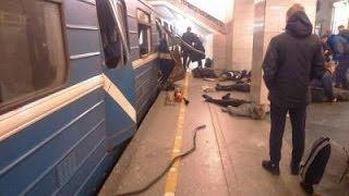 Первые секунды после взрыва в петербургском метро