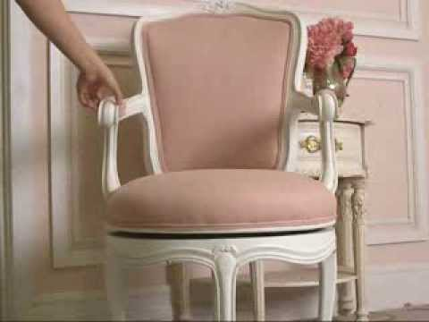 vintage style shabby chic office design. Vintage Shabby Chic Style Swivel Office Chair In Pink And White! Vintage Style Shabby Chic Office Design A