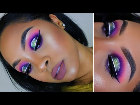 Colorful Halo Eye with Glitter Makeup Tutorial