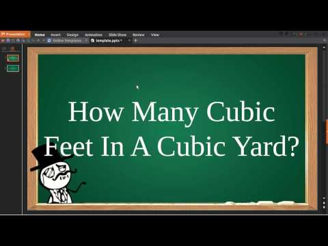 How Many Cubic Feet In A Cubic Yard