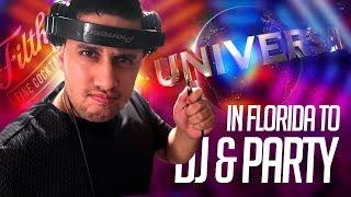 DJ GIG vLOG: DJ'ing a CLUB in FLORIDA | Pioneer HDJ-1500 Unboxing | PARTY at Universal Orlando