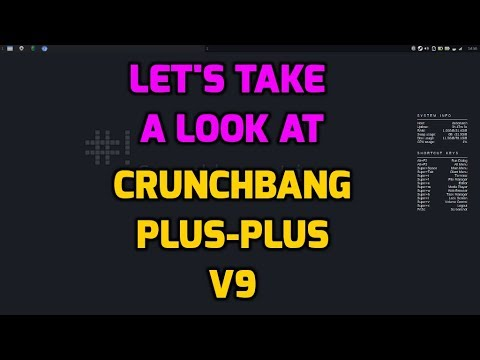 Crunchbang Plus Plus V9 - Debian 9 with Openbox
