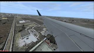 FSX  - Landing and taxiing in Bari, Italy [windows view  and real sound]