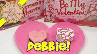 Little Debbie Conversation Heart Brownies & Red Velvet Cake Hearts