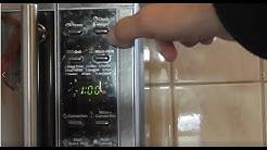 Alaska Mikrowelle Uhrzeit einstellen / Mikrowelle Uhr stellen Anleitung / Uhrzeit ändern