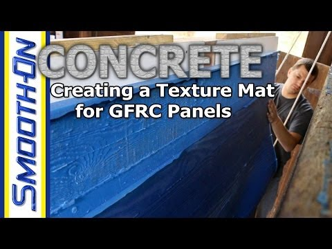 Mold Making Tutorial Silicone Rubber Texture Mat For Gfrc