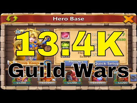 Castle Clash Guild Wars 13.4K Points