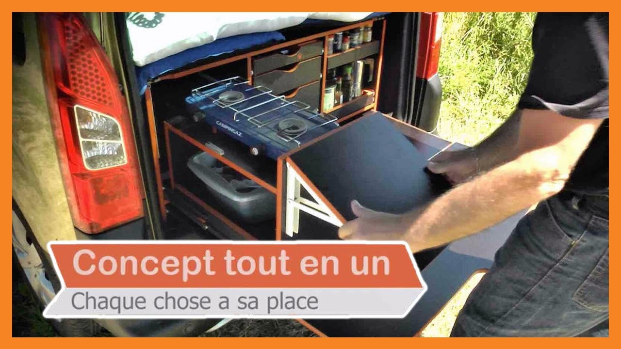 campinambulle les malles de voyage am nager sa voiture en mini camping car youtube. Black Bedroom Furniture Sets. Home Design Ideas