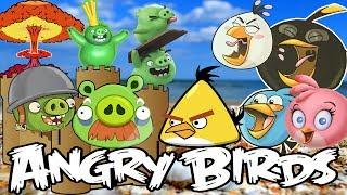 Angry Birds vs Pig City Epic Sand Castle on Bluffs Beach Toronto by SanSanychTV