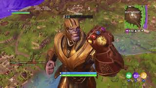 Fortnite:The power of THANOS (no talking)