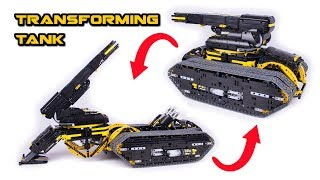 Transforming Lego Technic Tank - Howitzer - Full RC