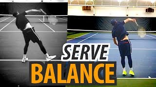 How to: Serve BALANCE and POWER - tennis lesson