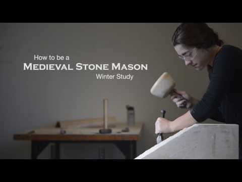 Williams Winter Study: How to be a Medieval Stone Mason - YouTube