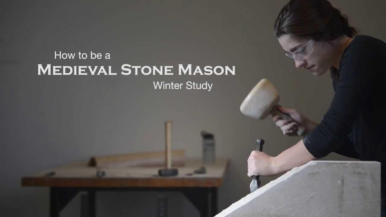 Treigny, France - October 21: Stonemason In Medieval Costume Works ...