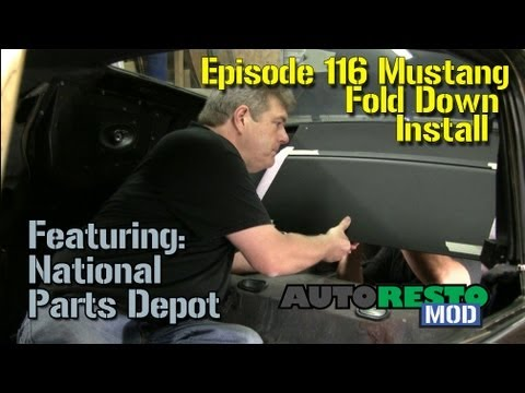 Episode 116 Mustang fold down installation Autorestomod  YouTube