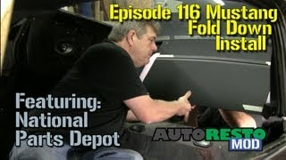 Episode 116  Mustang fold down installation Autorestomod
