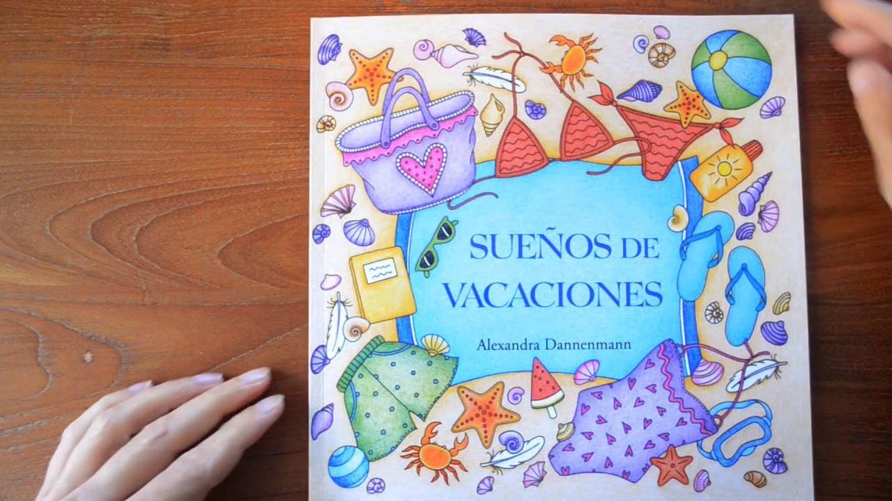 Sue os de vacaciones un libro de colorear para so ar y - Libros para relajarse ...