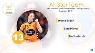 Yvette Broch (NED) - All-star line player | IHFtv - Germany 2017