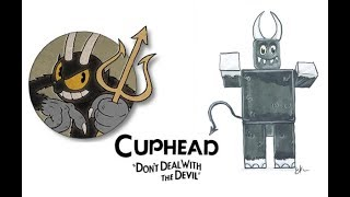 Personagens de cuphead como Roblox
