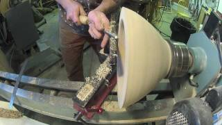 2 Bowl Blanks Get Wood Turned Into Large Segmented Vessel Part1/2