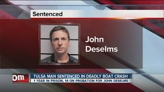 Tulsa man sentenced in deadly boat crash