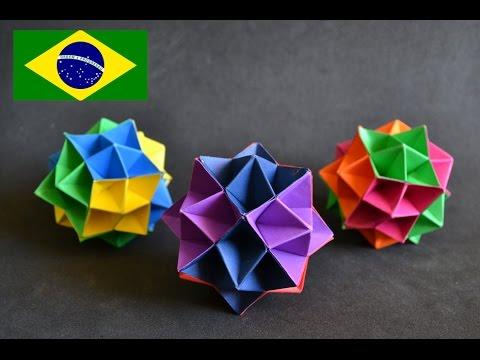 Origami: Spike Ball - Instruções em português PT BR - YouTube - photo#9