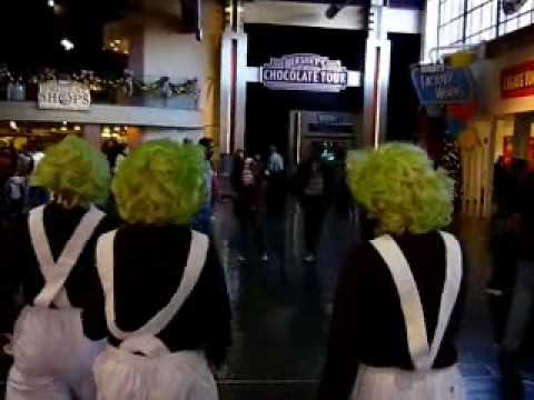 Willie Wonka & Oompa Loompas at Hershey's Chocolate World