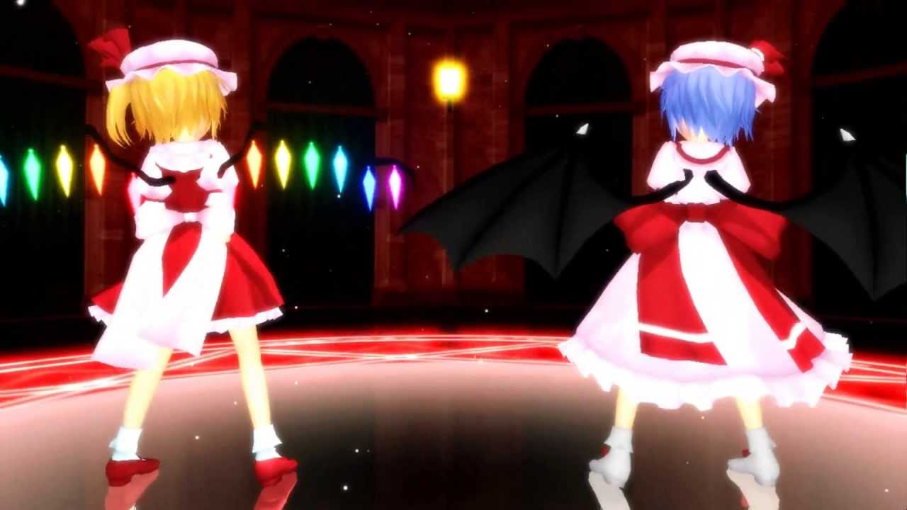 3d Devil Wallpaper Mmd Sweet Devil Remilia Scarlet Amp Flandre Scarlet