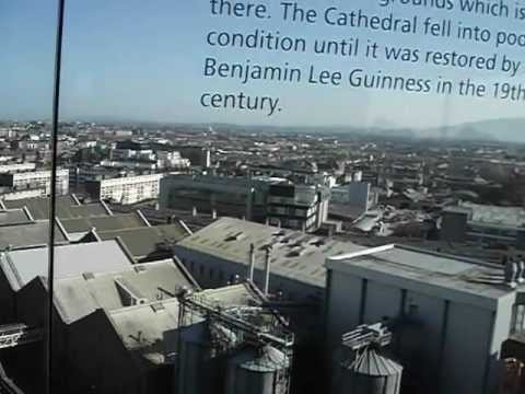 View of Dublin inside the Gravity Bar (Guiness Storehouse)