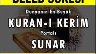 BELED Suresi - Kurani Kerim oku dinle video izle - Kuran.gen.tr