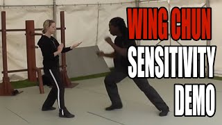 WING CHUN WOMAN - sensitivity training demo