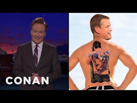 Conan Reveals Matt Damon's Ben Affleck Tattoo  - CONAN on TBS