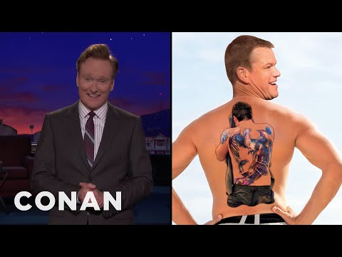 Conan Reveals Matt Damon's Ben Affleck Tattoo   CONAN on TBS