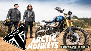 Riding a Triumph Scrambler 1200 off road with Arctic Monkeys/Reverend and the Makers