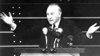 Konrad Adenauer - Rede im Bundestag 21.09.1949