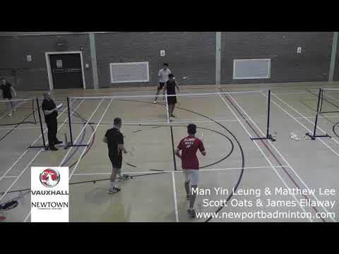 Cwmbran Vauxhall Senior Gold badminton tournament -  Mens Doubles