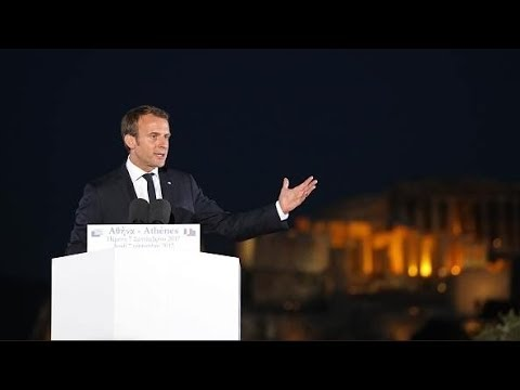 President Macron speaks Greek from the Pnyx in Athens