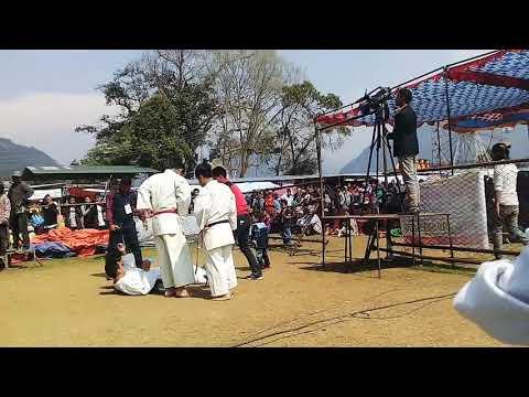 8th Sundarbazar mahosab ma marsyangdi karate dojo ka senior player haruko bike stunt -lamjung