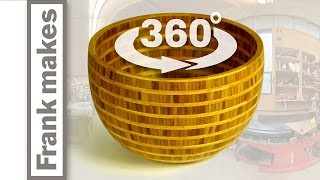 Segmented Wood Turned Bamboo Bowl 360
