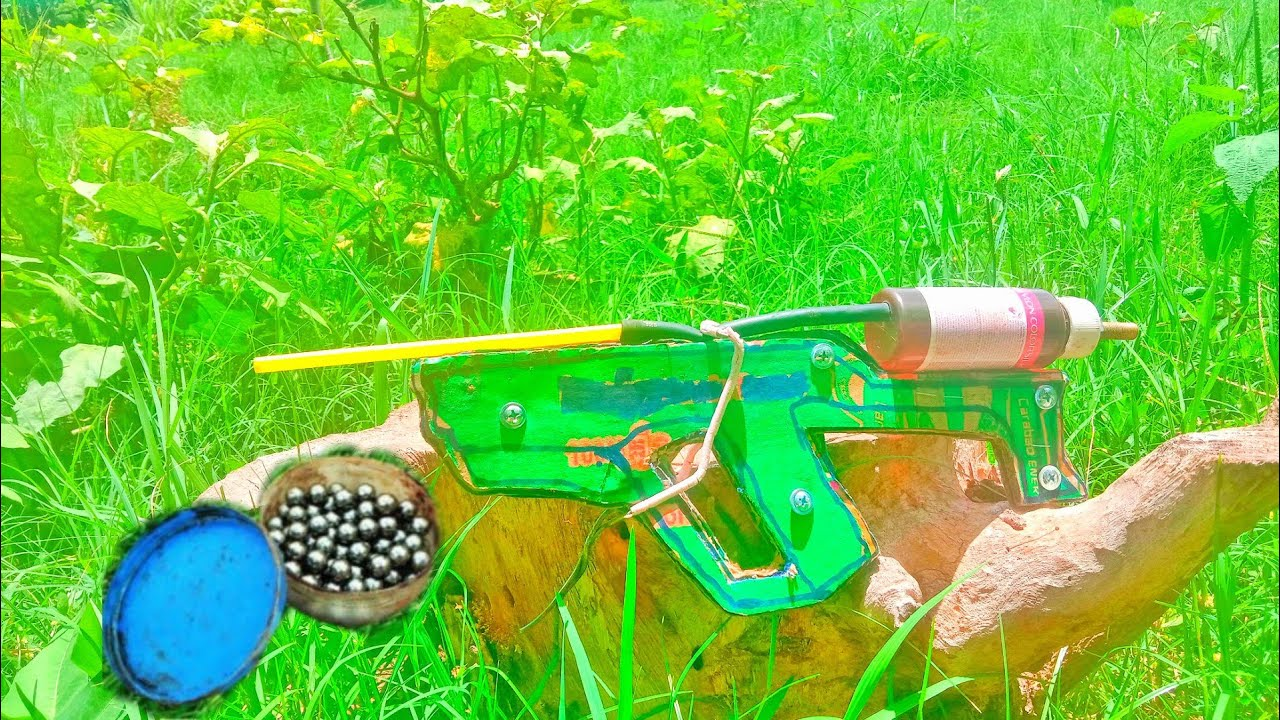 DIY: How To Make Air Gun From  Paper lard Pipe Work 100% | Dn Slow