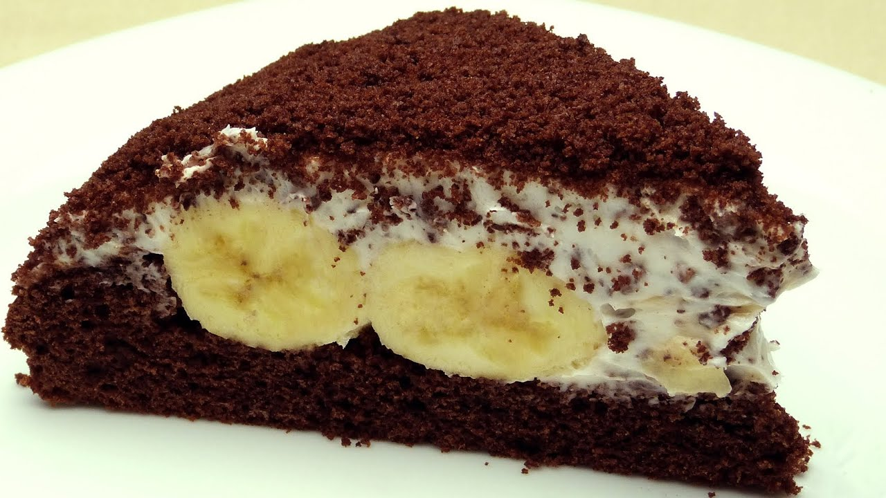 Cake De Banana Y Chocolate