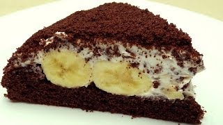 Cake with Banana and Chocolate