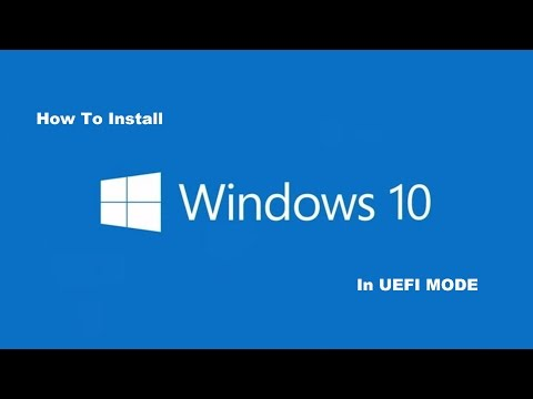 HOW TO INSTALL WINDOWS 10 WITH UEFI BOOTABLE DEVICE.