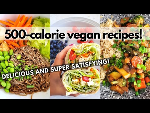 500 CALORIE VEGAN RECIPES (Healthy Low Calorie Vegan Meal Ideas)