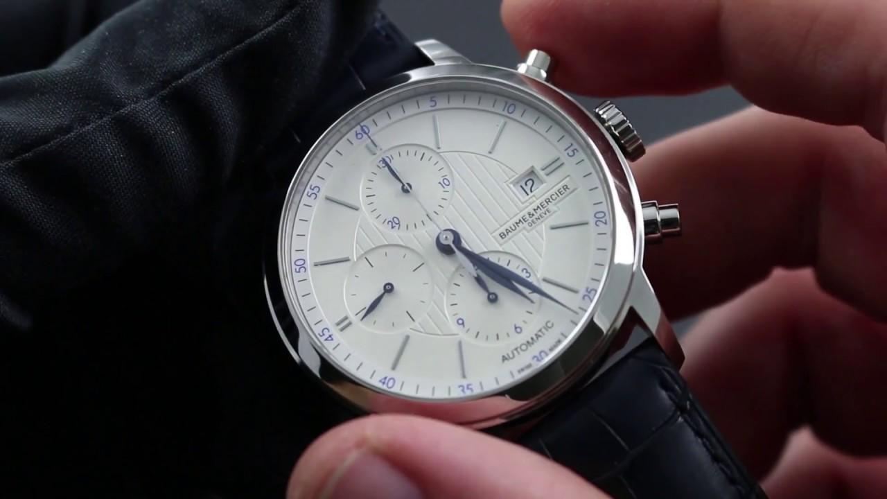 02a8f8e9069 Baume   Mercier Classima Chronograph 10330 Functions   Care - YouTube
